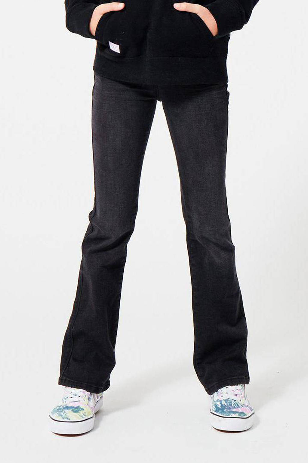 America Today Junior flared jeans washed black