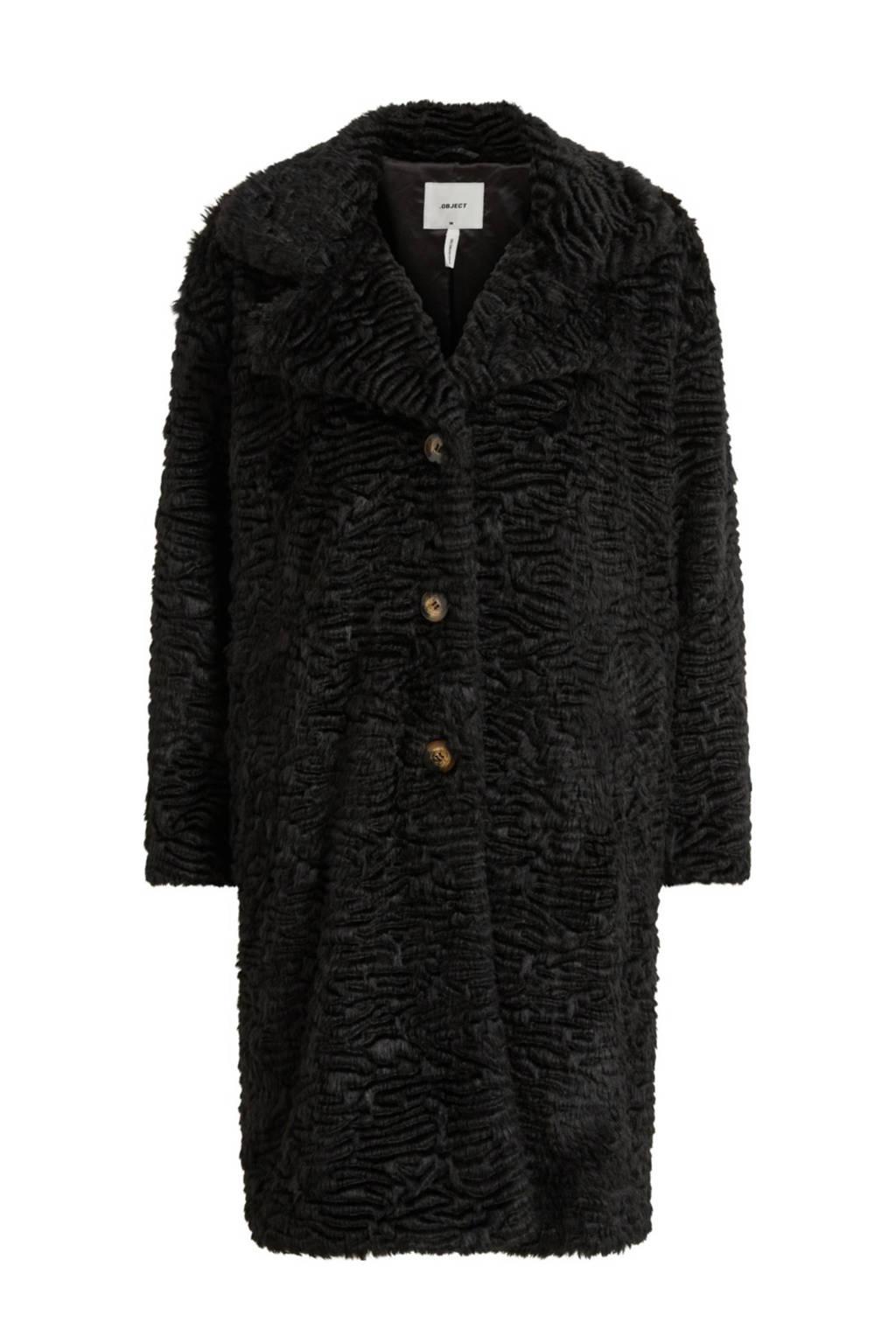 OBJECT coat zwart, Zwart
