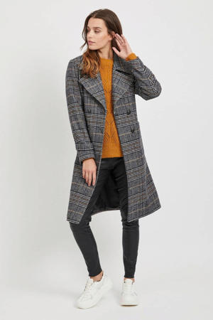 geruite coat Melia grijs/zwart
