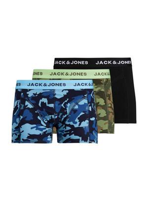 boxershort met camouflageprint - set van 3 blauw/groen/zwart