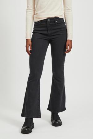 high waist flared jeans zwart