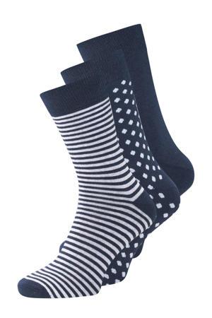 sokken ( 3 paar) marine