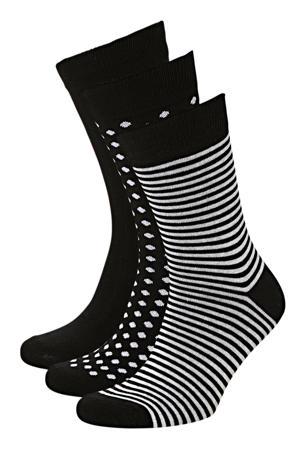 sokken JACORGANIC ( 3 paar) zwart