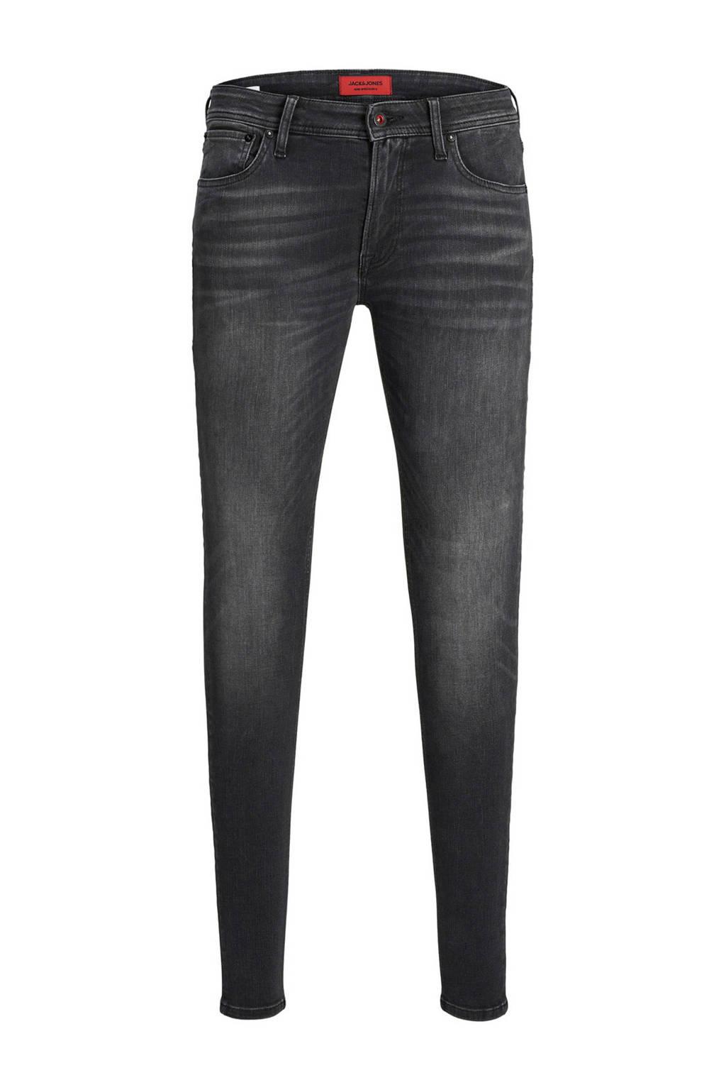 JACK & JONES JEANS INTELLIGENCE skinny jeans Tom zwart, Zwart