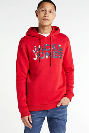 hoodie met logo rood