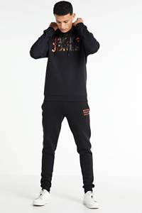 JACK & JONES ORIGINALS hoodie met logo zwart, Zwart