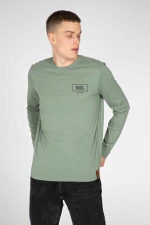 T-shirt met grafische print lichtgroen