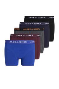 JACK & JONES JUNIOR   boxershort - set van 5  multicolor, Zwart