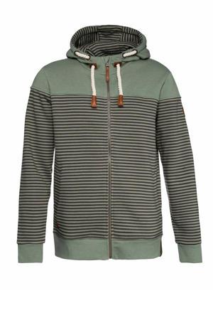 gestreept vest groen/bruin