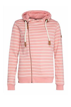gestreepte hoodie think pink