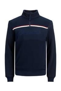 JACK & JONES JUNIOR trui Bradley met biologisch katoen donkerblauw/wit/donkerrood, Donkerblauw/wit/donkerrood