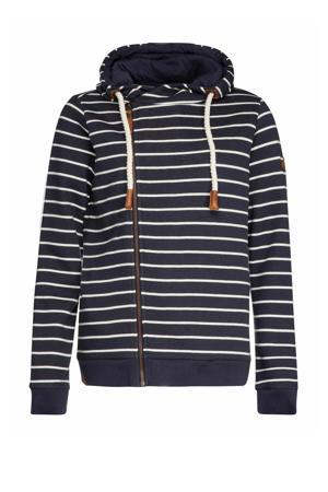 gestreepte hoodie space blue