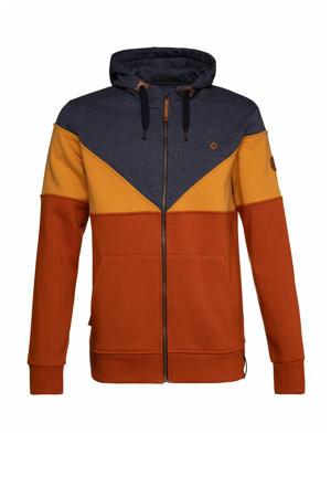 gestreept vest oranje/blauw/geel