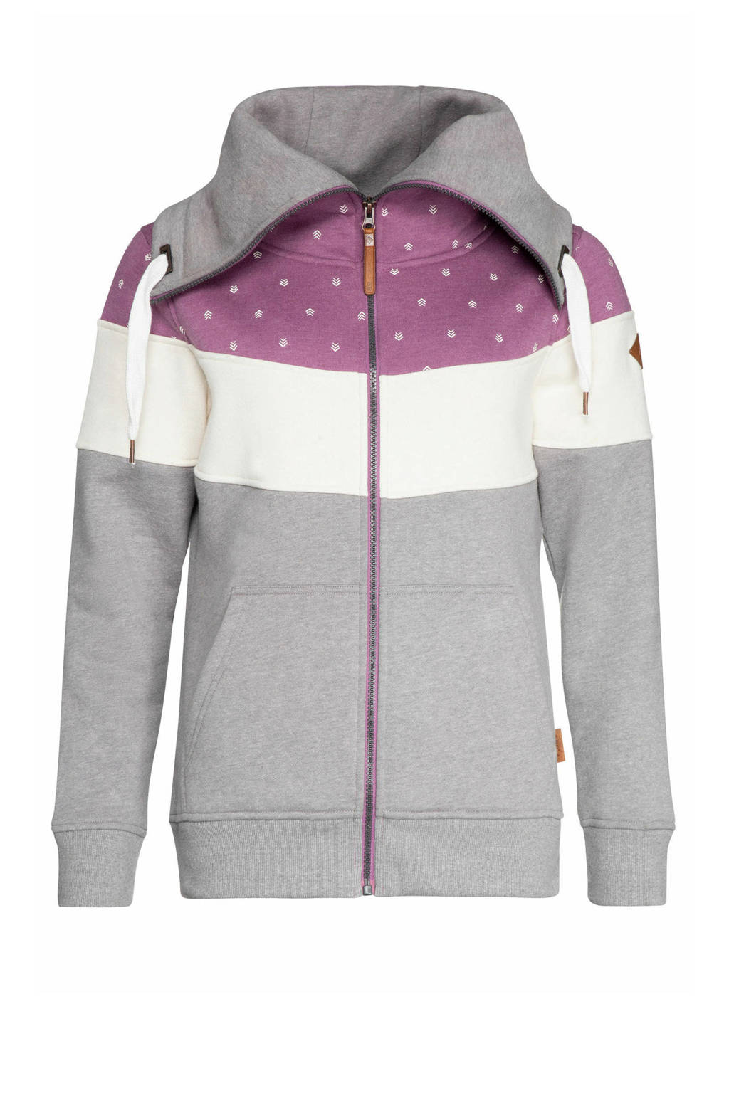 NXG by Protest Sweatvest grijs/wit/paars, Very Grape