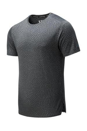 hardloopshirt grijs/antraciet