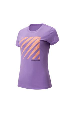 T-shirt paars/oranje