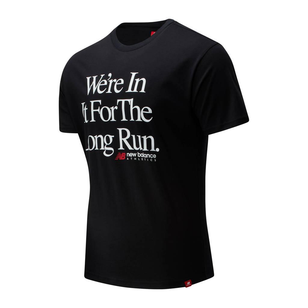 New Balance T-shirt zwart, Zwart