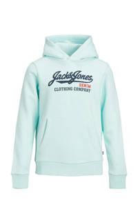 JACK & JONES JUNIOR hoodie met logo turquoise, Turquoise