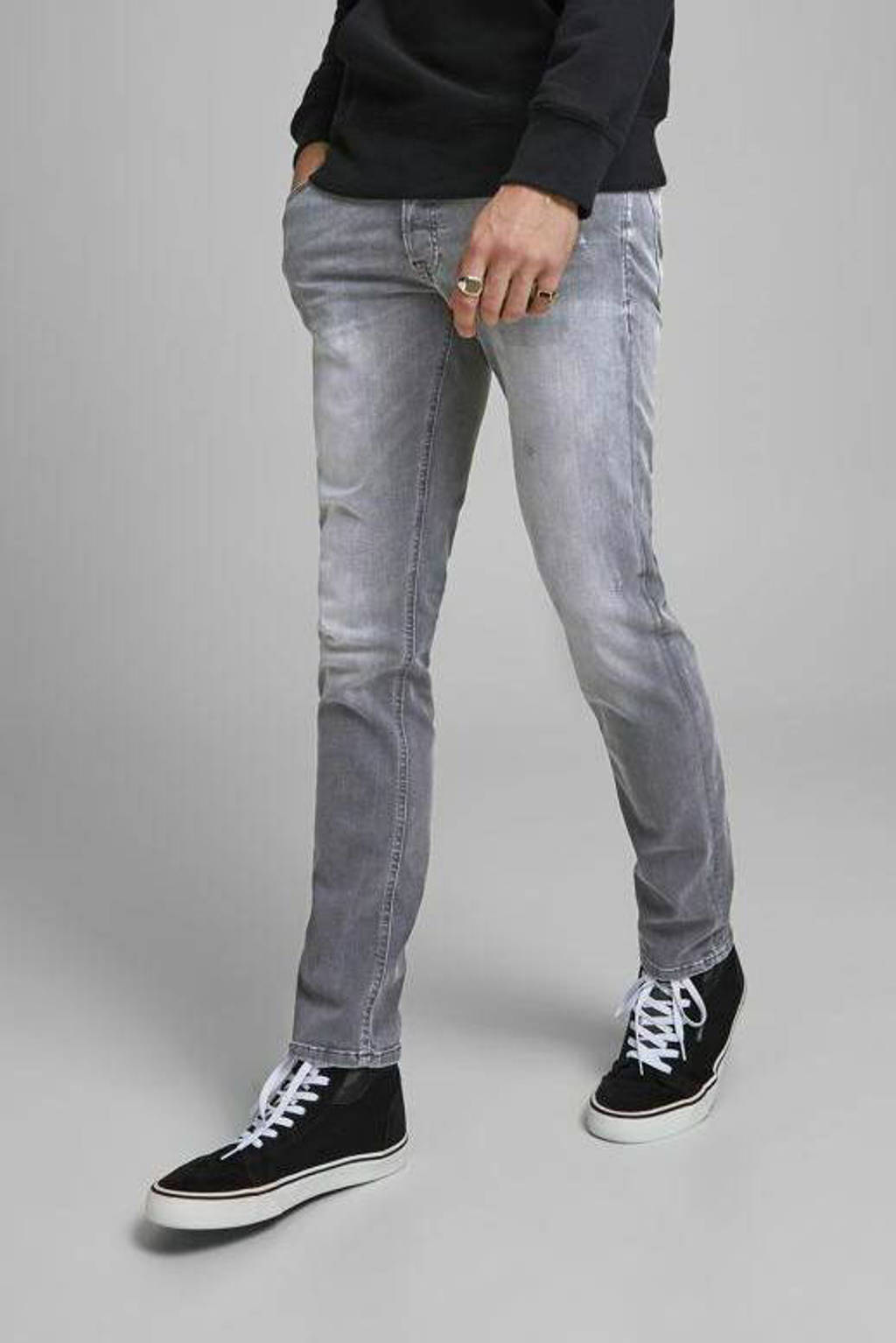 JACK & JONES JEANS INTELLIGENCE slim fit jeans Glenn grey denim, Grey denim