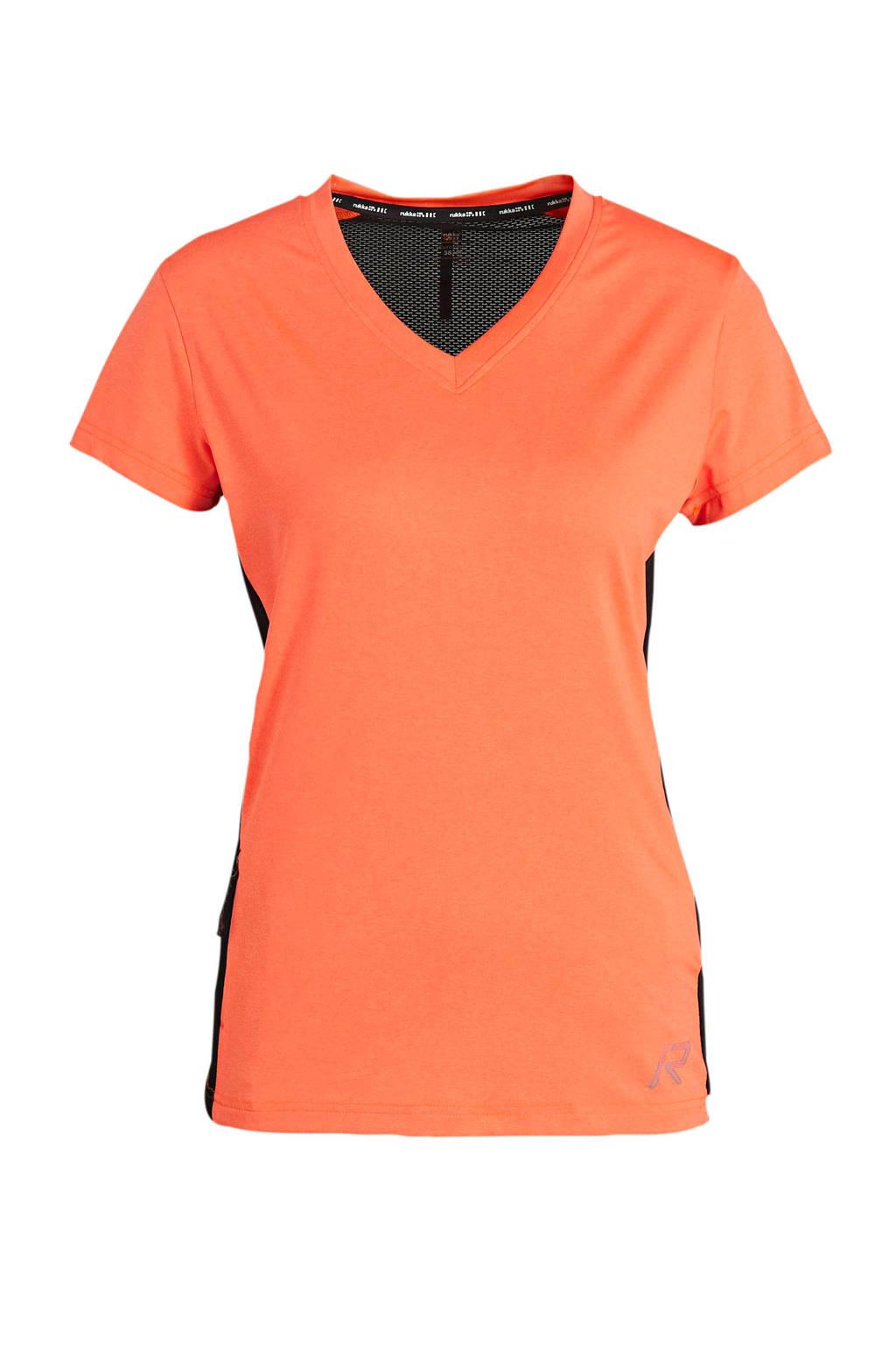 Rukka sport T-shirt Maanovilja oranje/zwart, Oranje/zwart