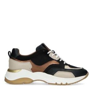 suède dad sneakers zwart/multi