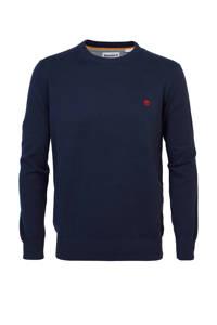 Timberland fijngebreide trui van biologisch katoen donkerblauw, Donkerblauw
