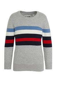 C&A Palomino gestreepte trui lichtgrijs/blauw/rood, Lichtgrijs/blauw/rood