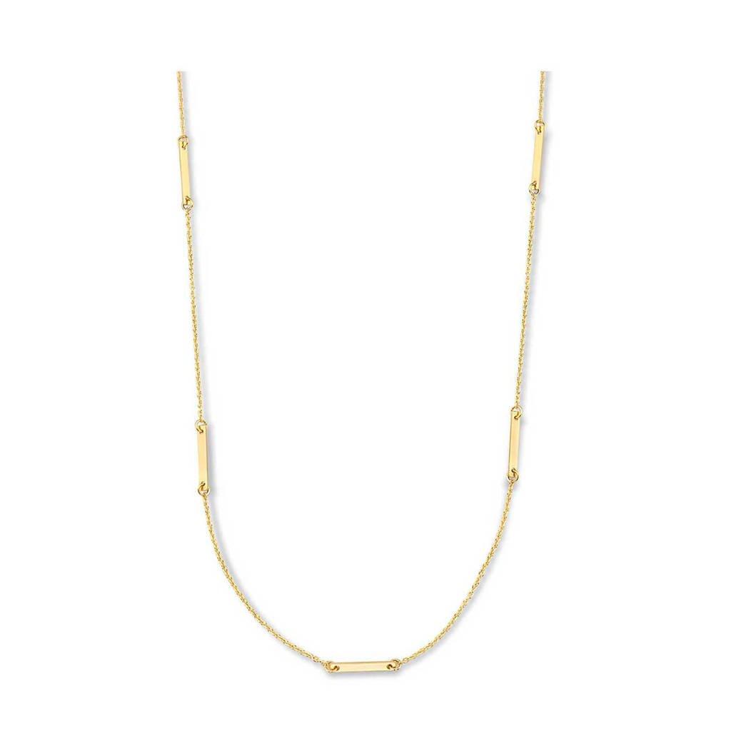 Isabel Bernard 14 karaat gouden gouden ketting - IB340033, Goudkleurig