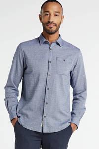 JACK & JONES ESSENTIALS gemêleerd regular fit overhemd donkerblauw, Donkerblauw