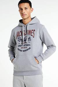 JACK & JONES ESSENTIALS hoodie met logo lichtgrijs, Lichtgrijs