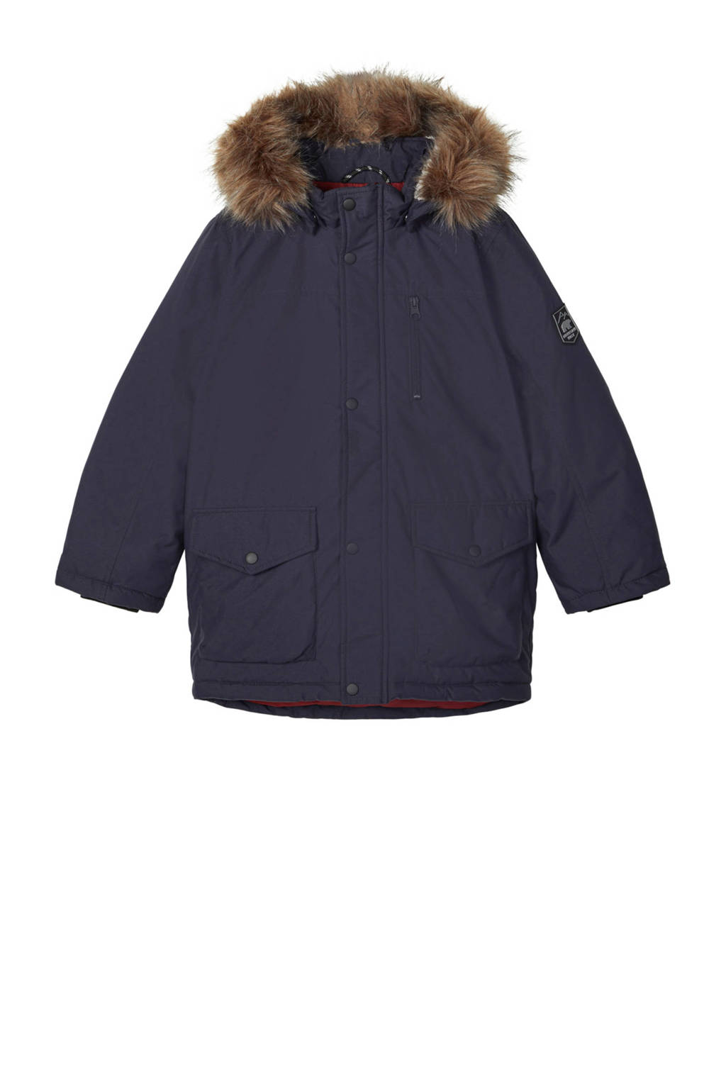 NAME IT KIDS  winterjas Mibis donkerblauw, Donkerblauw