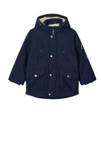 NAME IT MINI  winterjas Mack met patches donkerblauw, Donkerblauw