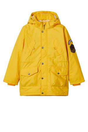 winterjas Mack met patches geel