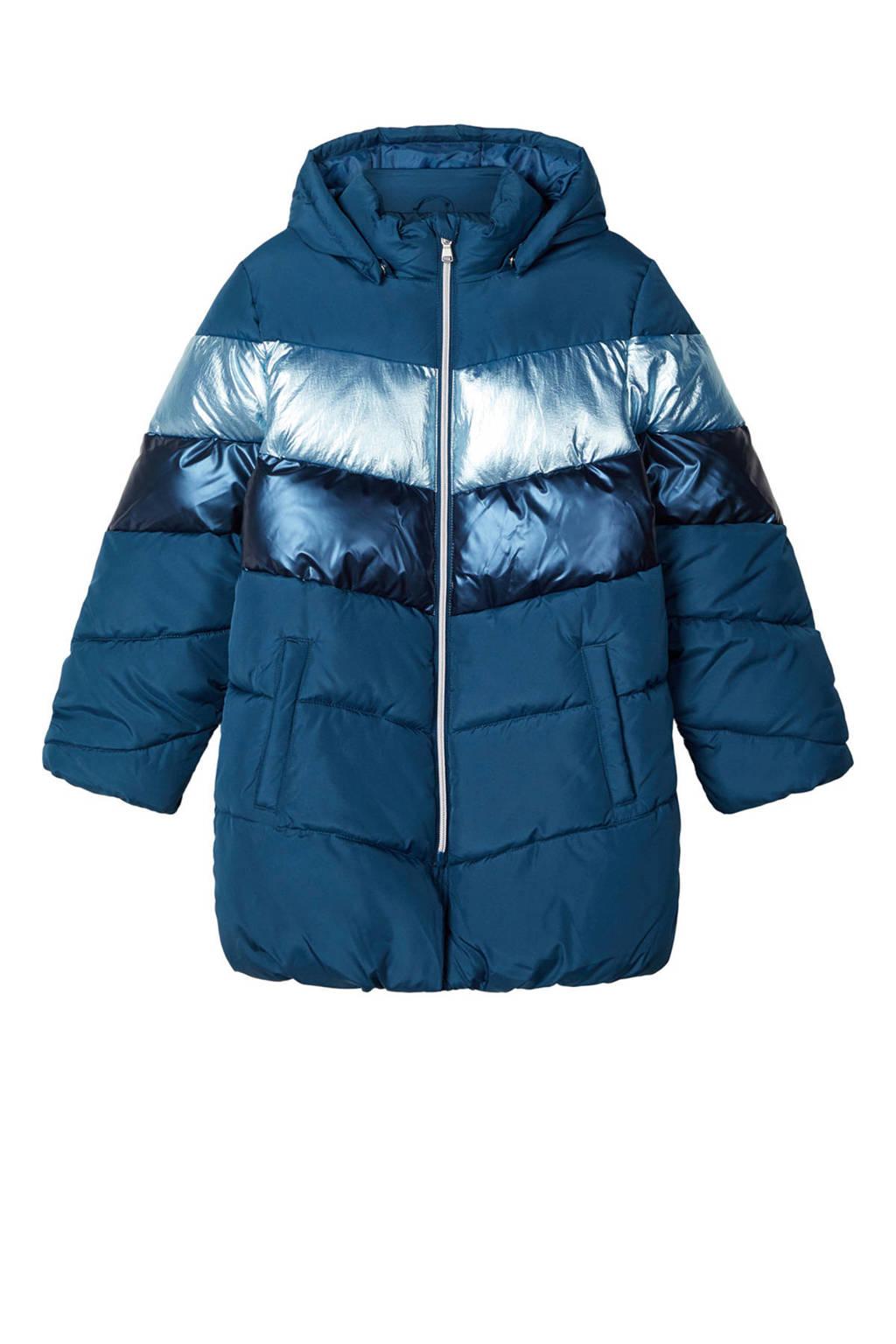NAME IT KIDS gewatteerde winterjas Madeleine blauw, Blauw
