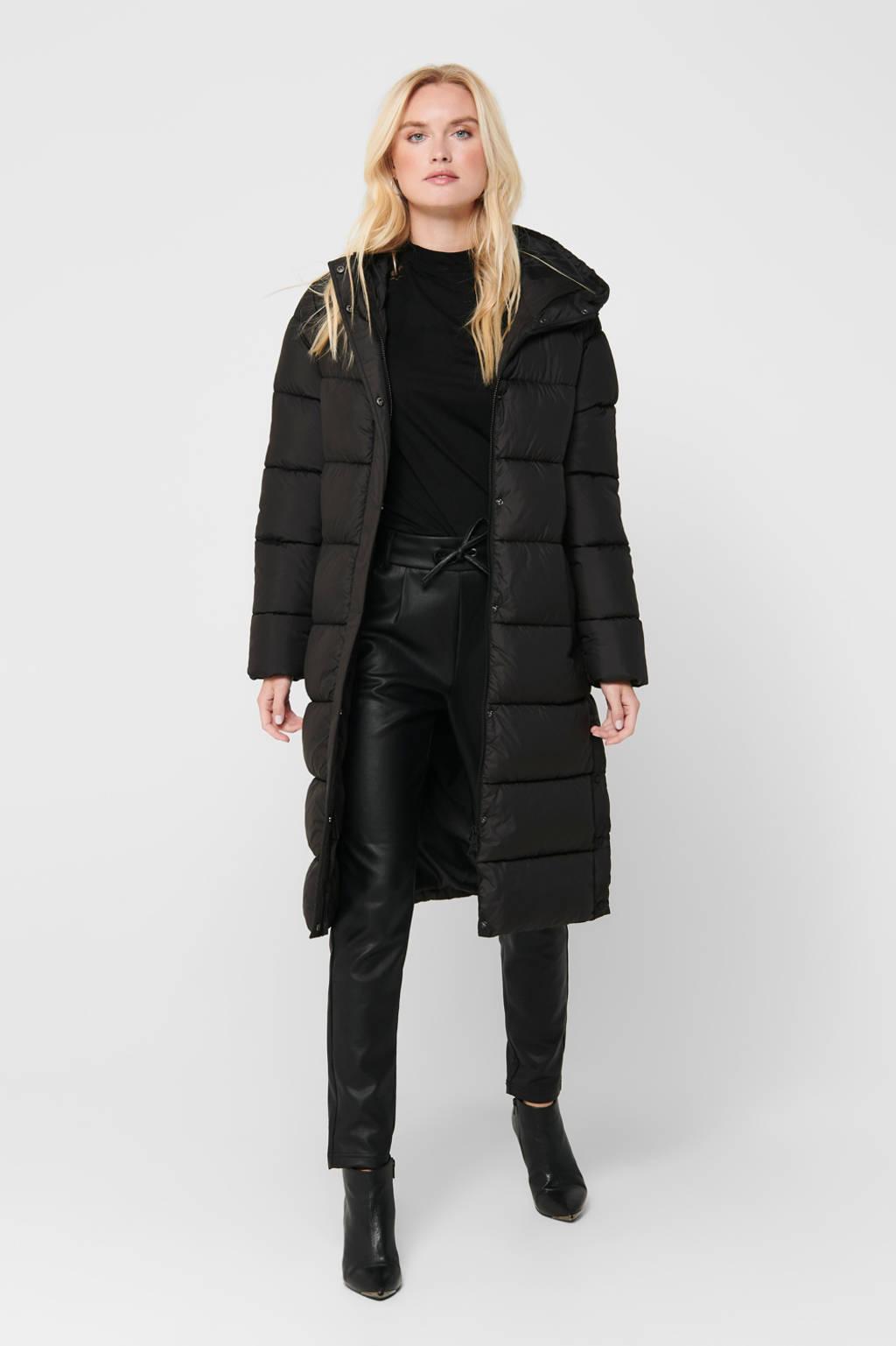 ONLY gewatteerde jas Newcammie zwart, Zwart