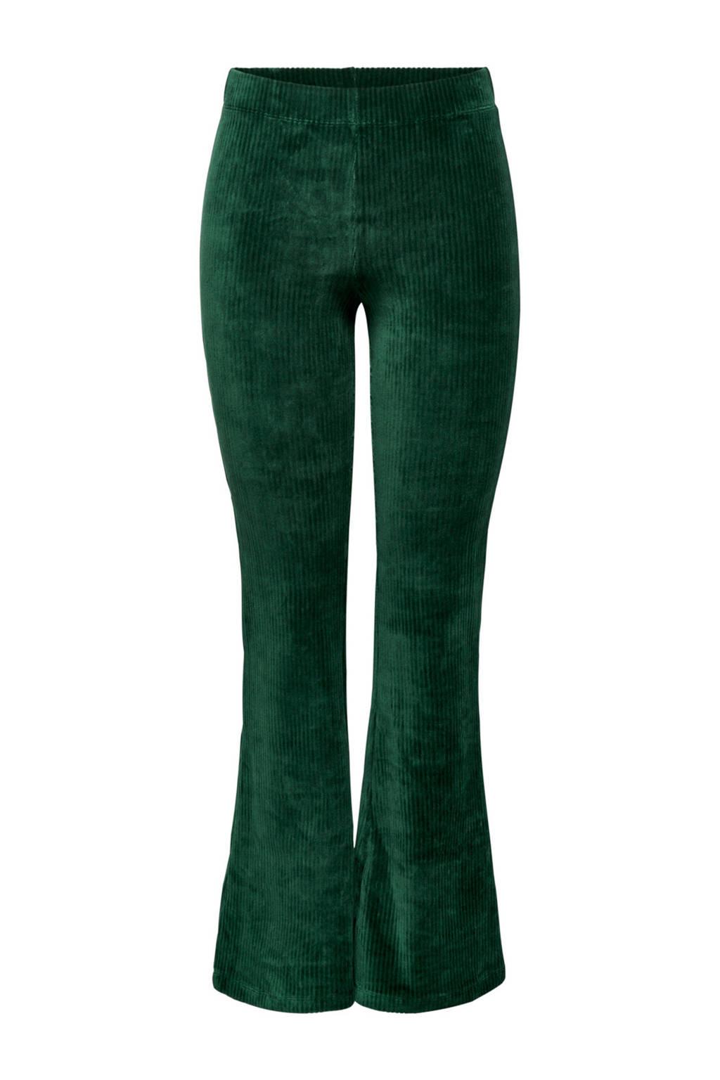ONLY flared broek groen, Groen