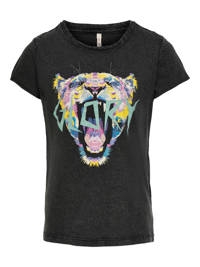 KIDS ONLY T-shirt Lucy van biologisch katoen zwart, Zwart