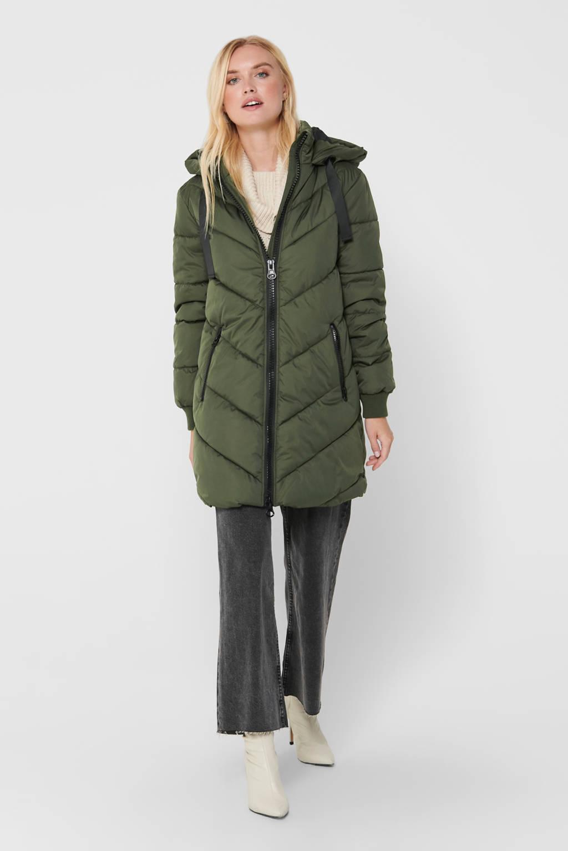 JACQUELINE DE YONG gewatteerde winterjas Skylar groen, Groen
