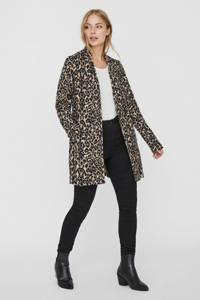 VERO MODA coat met panterprint beige/zwart, Beige/zwart