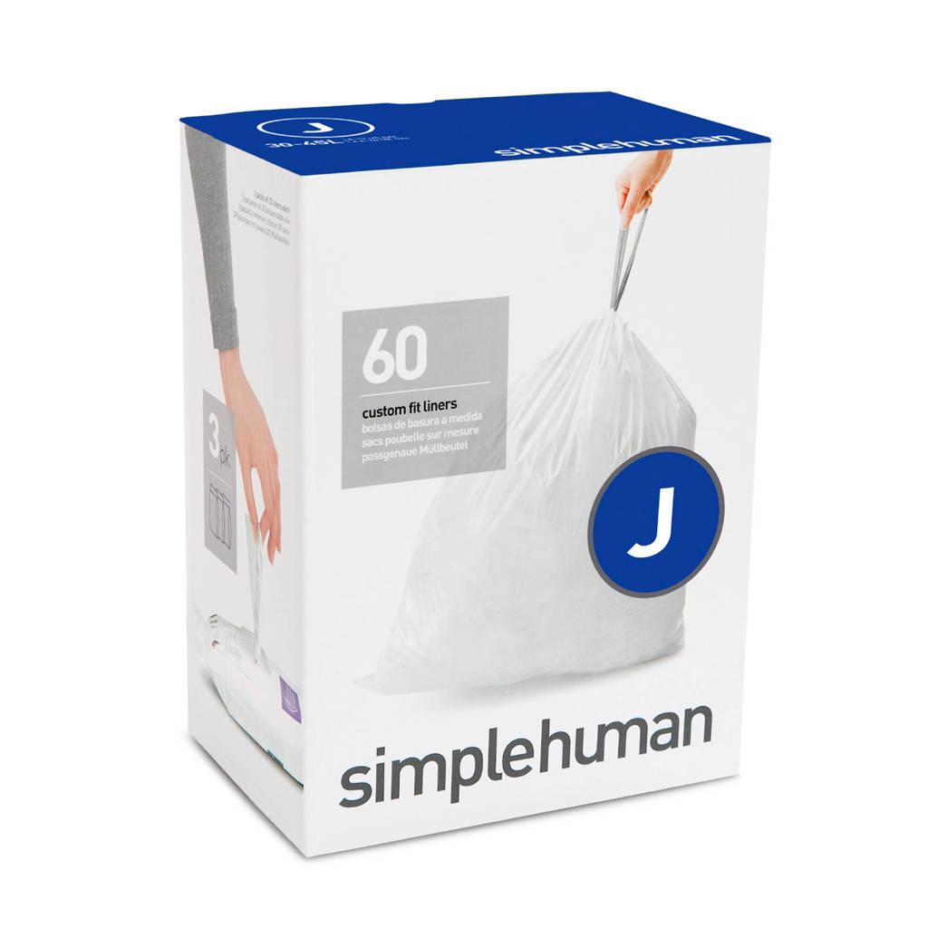 SimpleHuman afvalzak Code J (38-40L) (Set van 3x20 stuks)