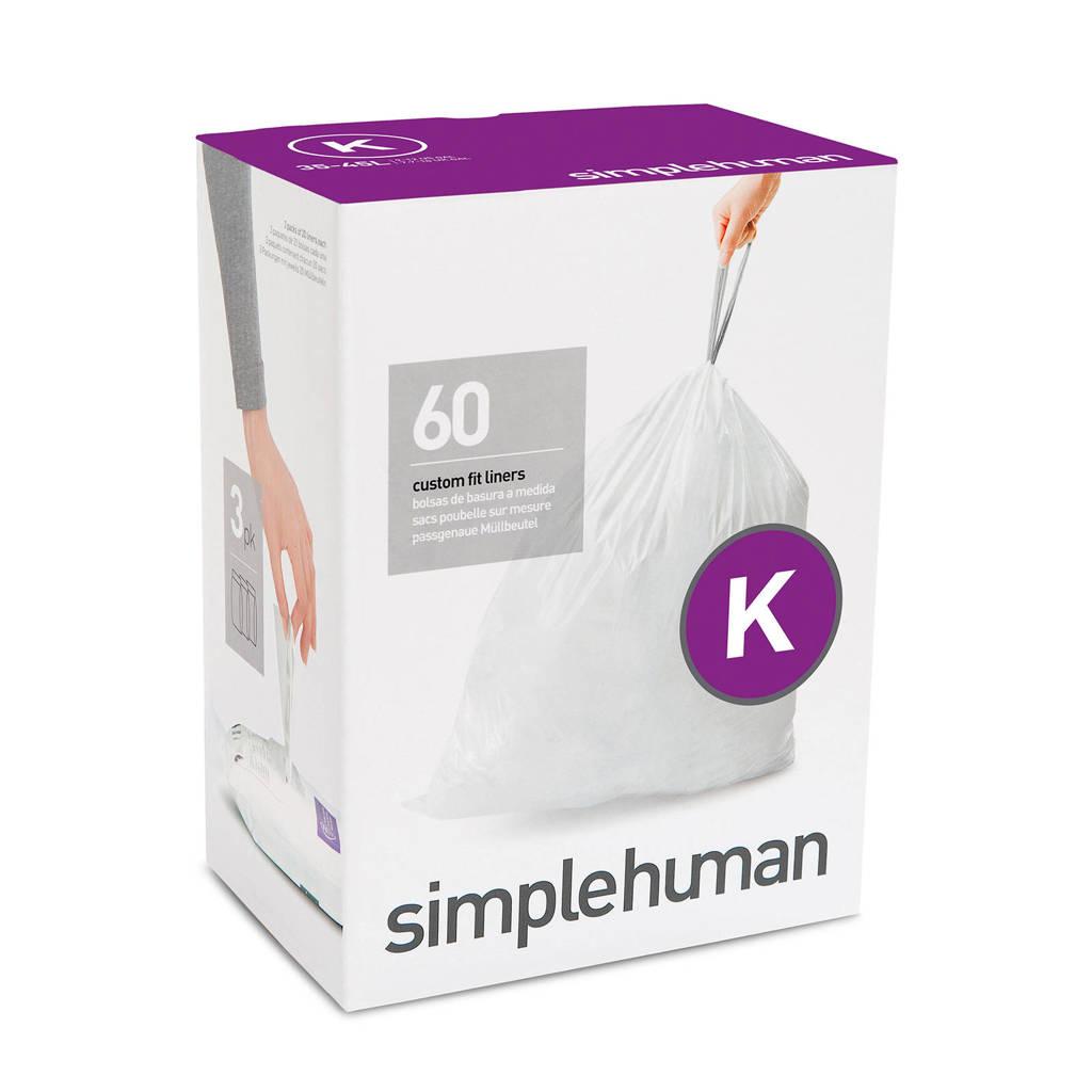 SimpleHuman afvalzak Code K (35-45L) (Set van 3x20 stuks)