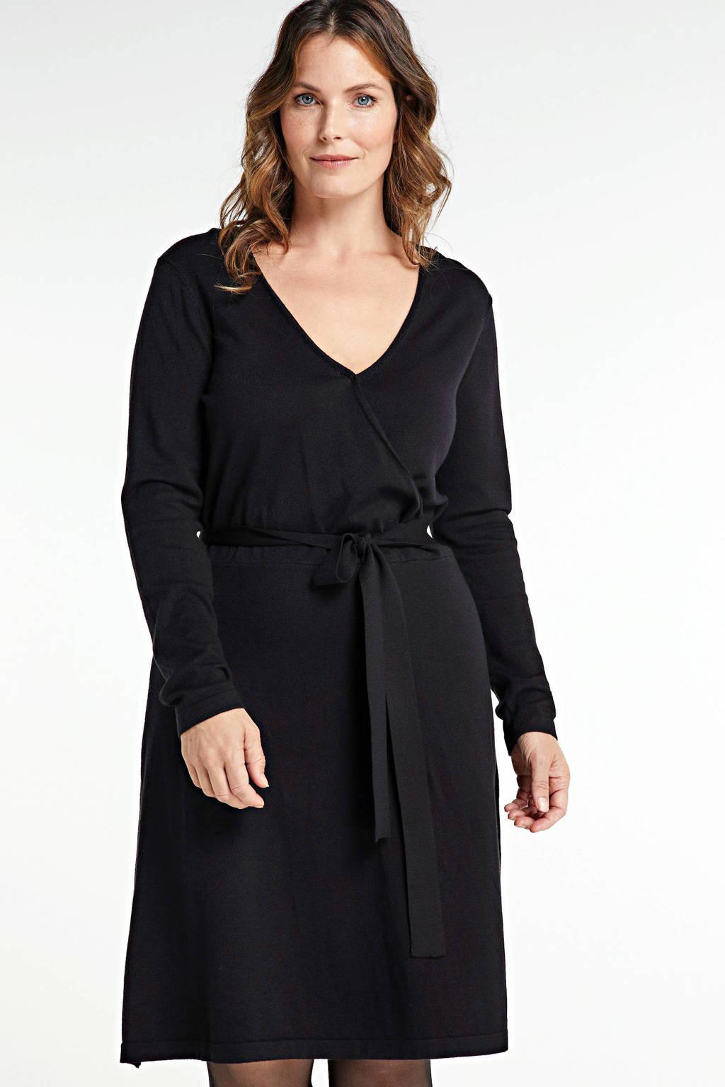 VERO MODA CURVE A-lijn jurk Karisara met ceintuur zwart, Zwart