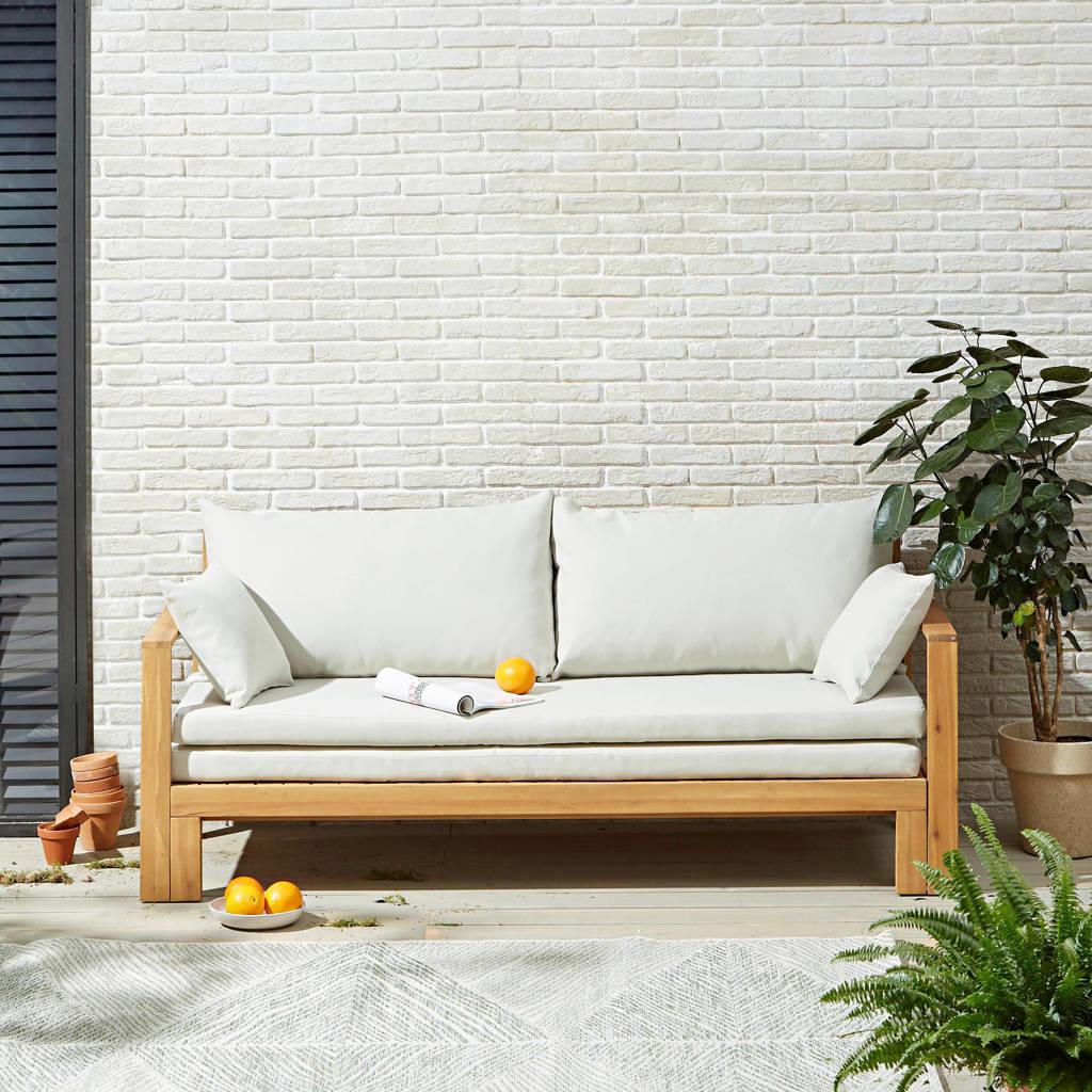 Wehkamp Home loungebank met ligbed La Serena, Teak/lichtgrijs
