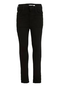 NAME IT KIDS skinny fit broek Polly met biologisch katoen zwart, Zwart