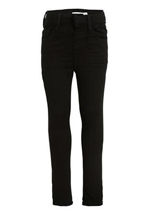 skinny fit broek Polly met biologisch katoen zwart