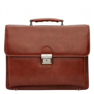 Realta 13,3 inch laptoptas cognac