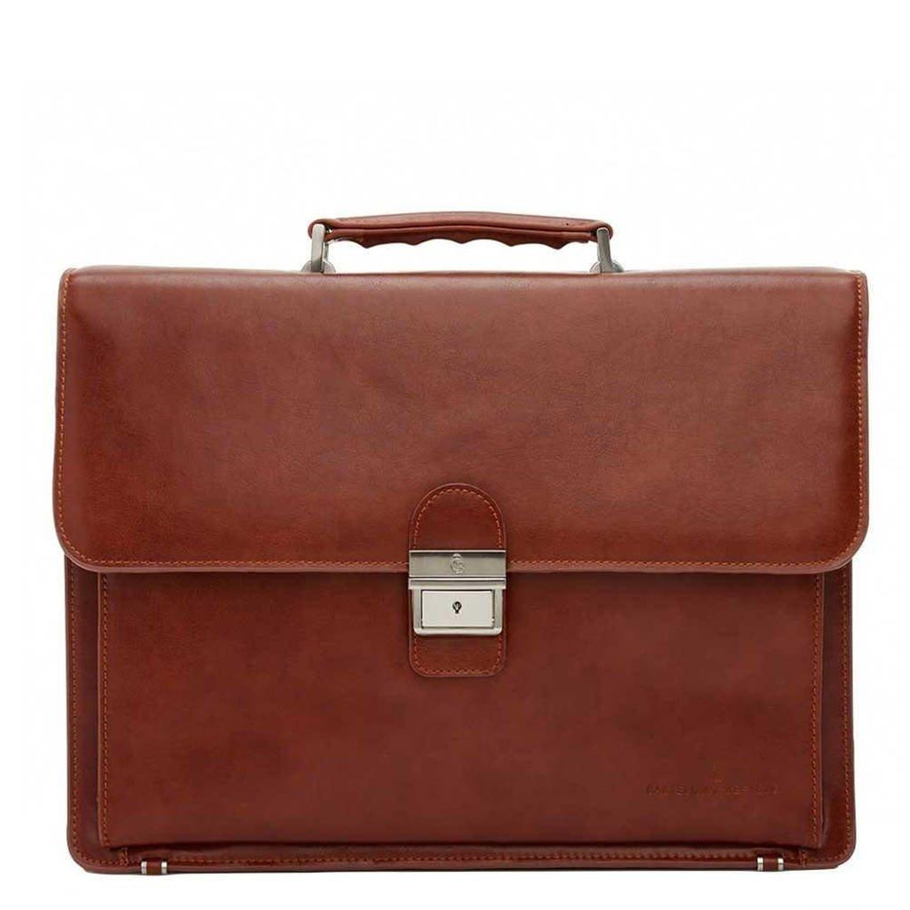 Castelijn & Beerens  15.4 inch leren laptoptas Realta cognac, Cognac