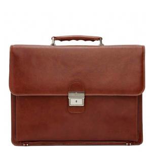 Realta 15,4 inch laptoptas cognac