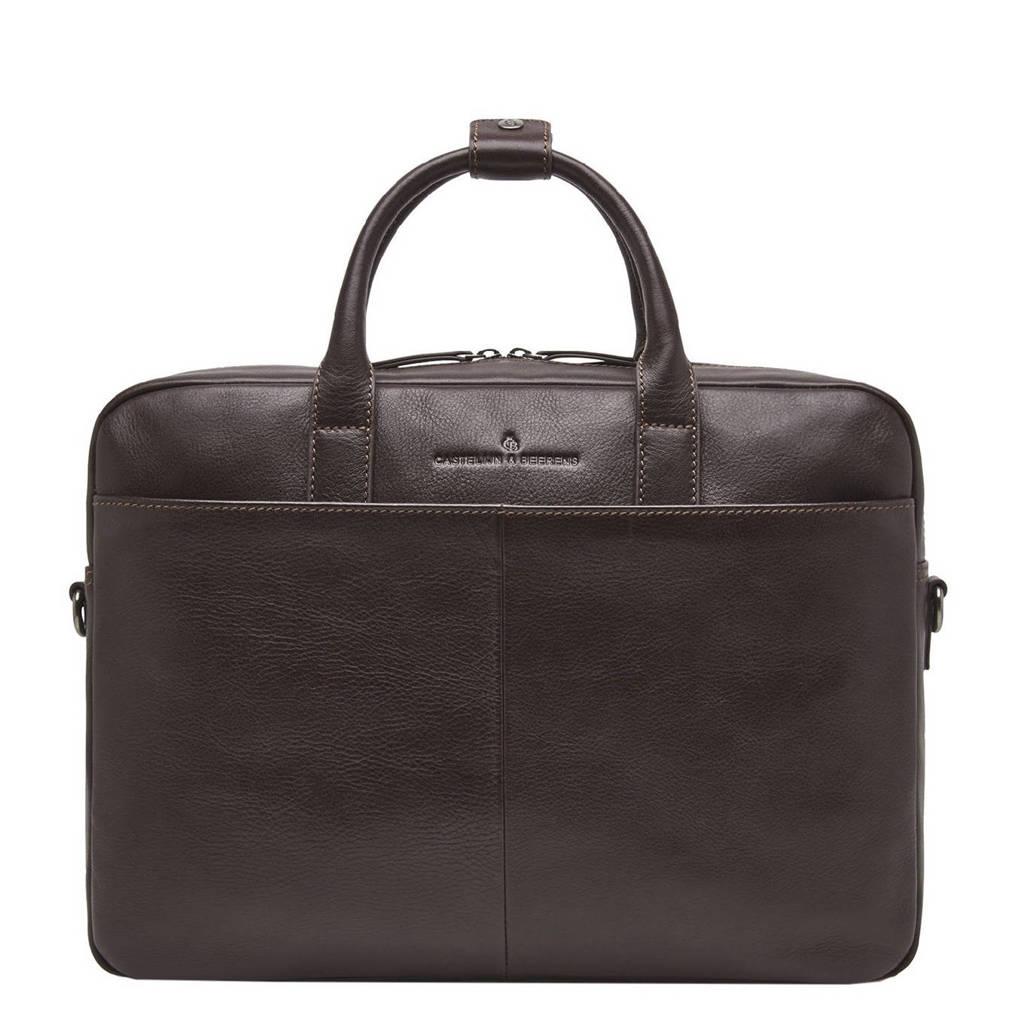 Castelijn & Beerens  15,6 inch leren business tas Specials donkerbruin, Donkerbruin