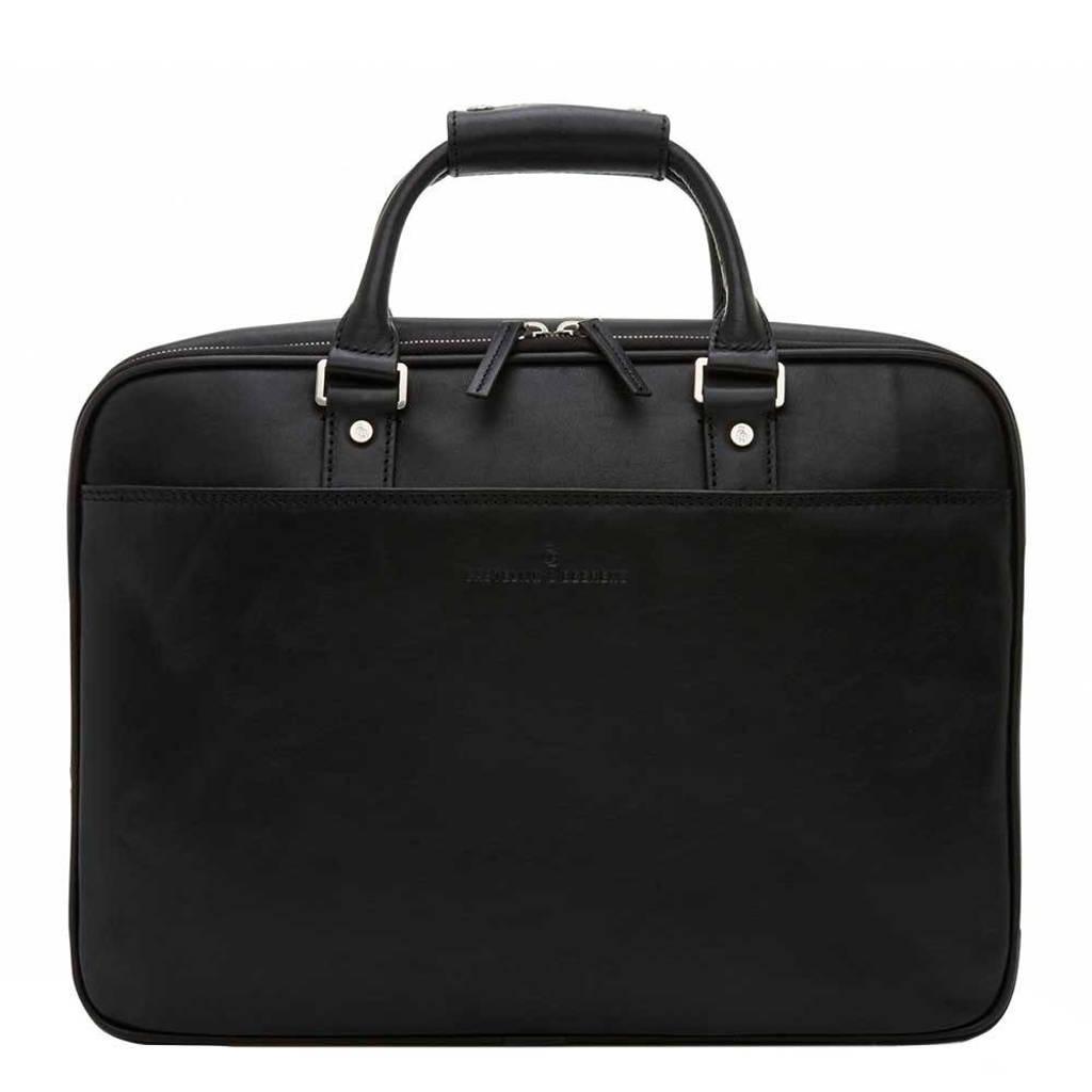 Castelijn & Beerens  15,6 leren business tas Verona zwart, Zwart